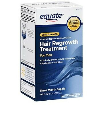 3 Month Equate Hair Regrowth For Men Minoxidil 5% Topical Solution