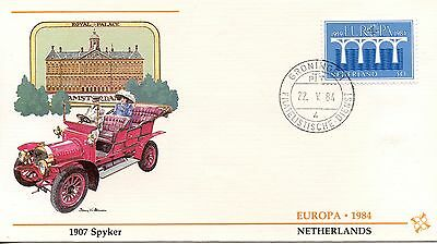 First Day Cover / 1° Jour Europa / Voiture / Netherlands / 1907 Spyker