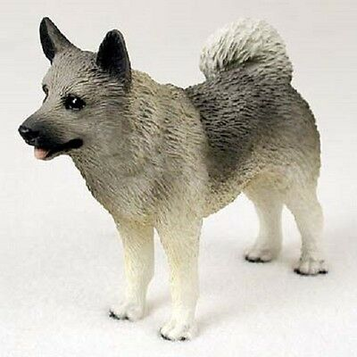 NORWEGIAN ELKHOUND Dog HAND PAINTED FIGURINE Resin Statue COLLECTIBLE Puppy NEW