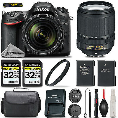 Nikon D7200 24.2MP DX-Format Digital SLR Body w/ 18-140 VR NIKKOR Zoom Lens Kit