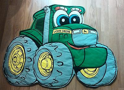 """~Quilted Wall Hanging~Johnny Tractor~Kids John Deere Room Decor~Large 35"""" x 26"""""""