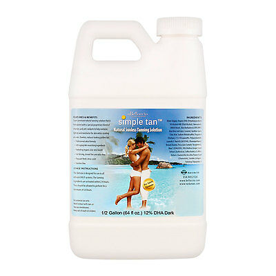 1/2 Gallon Belloccio Simple Tan 12% DHA Sunless Airbrush Spray Solution Tanning