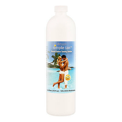 Pint Belloccio Simple Tan 10% DHA Medium Sunless Airbrush Spray Tanning Solution