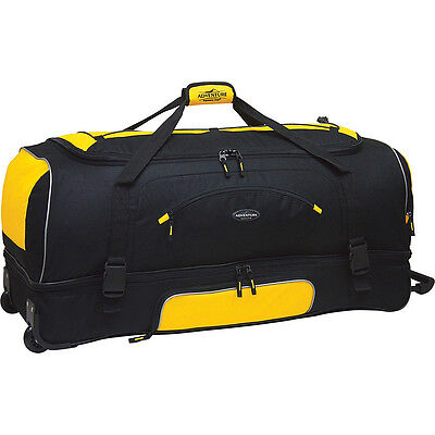 """Travelers Club Luggage Adventure 30"""" 2-Section Drop Rolling Duffel NEW"""