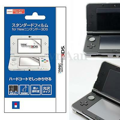 2pcs Clear Top & Bottom LCD Screen Protector Cover Film Set For New Nintendo 3DS