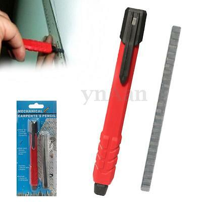 Mechanical Carpenter HB Pencil Auto Refillable Pocket Clip Marking Tool 2 Lead