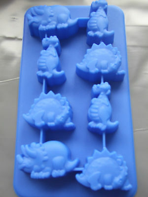 Silicone Mould Dinosaur Chocolate Tray-Ice,Sweets,Butter,Soap,Wax,Fondant Etc