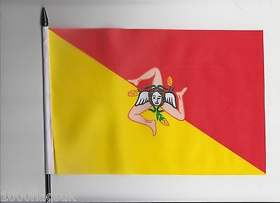 Italy Sicily Medium Hand Waving Flag
