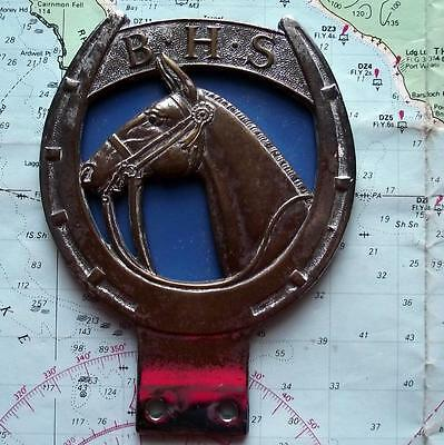 c1960 Old Vintage Car Mascot Badge for British Horse Society  (E)