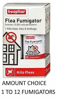 Beaphar Flea Fumigator Bomb Amateur Household Insect Fly Cockroach Kill 1 To 12