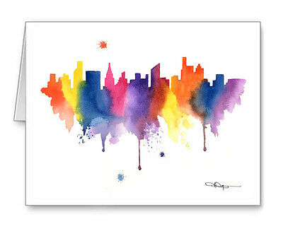 CHICAGO SKYLINE Note Cards With Envelopes