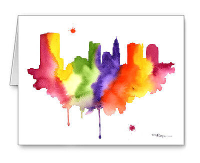 COLUMBUS SKYLINE Note Cards With Envelopes