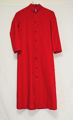 Art Needlecraft RED CASSOCK E Church Choir Altar Server Acolyte Clergy Vestments
