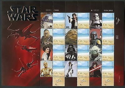 Israel Star Wars Set Of Two Sheets With Serial Numbers With Deluxe Folder