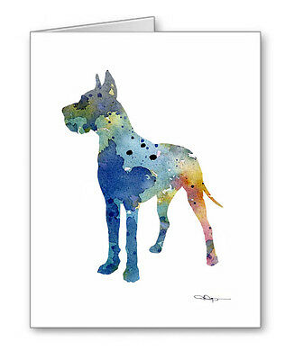BLUE GREAT DANE Note Cards With Envelopes
