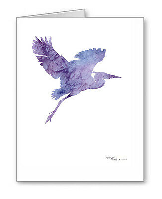 HERON FLYING Note Cards With Envelopes