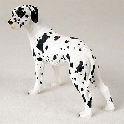 GREAT DANE Dog HAND PAINTED FIGURINE Statue COLLECTIBLE Harlequin UNCROPPED New