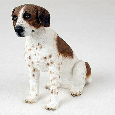 POINTER Dog HAND PAINTED FIGURINE Resin Statue COLLECTIBLE Brown White puppy