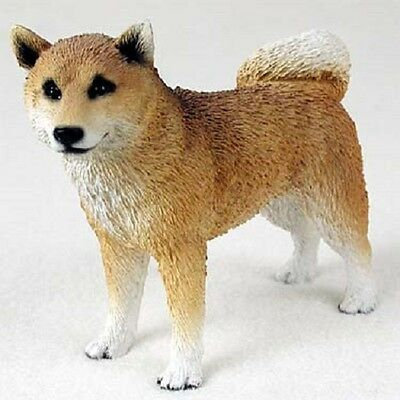 SHIBA INU Dog HAND PAINTED FIGURINE Resin Statue COLLECTIBLE puppy NEW