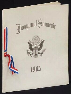1905 Inaugural Souvenir Booklet President Theodore Roosevelt. Baby Gift In 1905