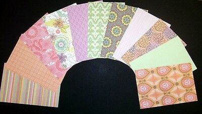 "*BLOSSOM*  Scrapbooking/Cardmaking Papers x 11  *15cm x 10cm - (6"" x 4"")"
