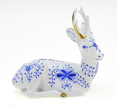 Rare Zsolnay Resting Deer Figurine