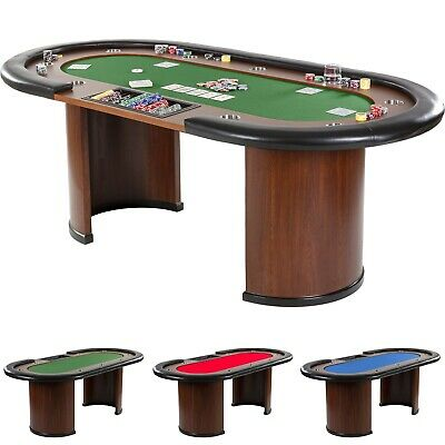XXL Pokertisch ROYAL FLUSH Pokertable Casino Poker Tisch Getränkehalter