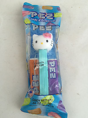 NEW PEZ Candy and Dispenser Cartoon Hello Kitty Blue Package!