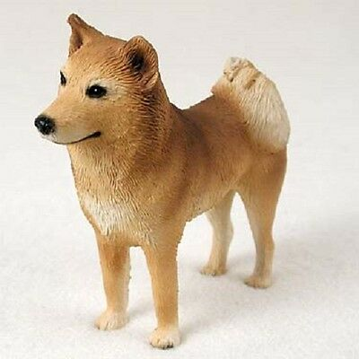 FINNISH SPITZ Dog HAND PAINTED FIGURINE Resin Statue COLLECTIBLE puppy