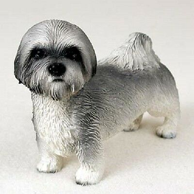LHASA APSO Dog COLLECTIBLE FIGURINE Resin Statue GRAY  Puppy Sport Cut NEW