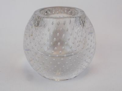 PAIRPOINT Glass Antique Controlled Bubbles Match Holder