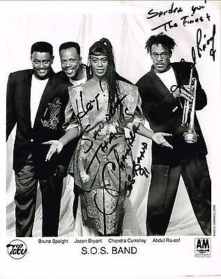 The S.o.s. Sos Band R&b Music Group Group Signed Photo Autograph Bruno Speight