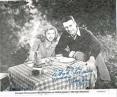 """Wilbur Evans Broadway / Movie Actor """"lost In Space"""" Signed Photo Autograph"""