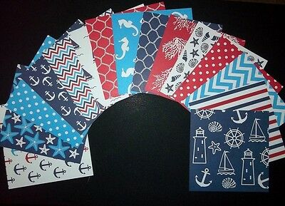 "15 Fantastic *NAUTICAL*  Scrapbooking/Cardmaking Papers - 15cm X 15cm (6"" x 6"")"