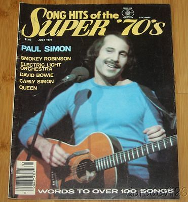 July 1976 SONG HITS OF THE SUPER '70'S magazine PAUL SIMON QUEEN DAVID BOWIE