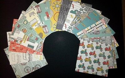 """*MAN MADE * Beautiful Quality Masculine Papers x 16 -  15cm x 15cm (6"""" x 6"""")"""