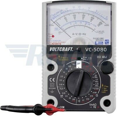 Voltcraft VC-5080 Analogue Multimeter V/ AC, V/ DC, A/ DC, Ω, frequency, diode