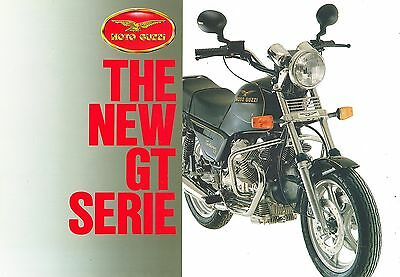 Moto Guzzi Gt Series Motorcycles Sales Sheet