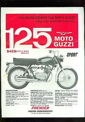 Moto Guzzi 125 Sport & 125 Town/trail Sales Sheet (Usa)