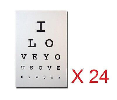 Wholesale Job Lot 24 x Canvas Wall Art Eye Test I Love You So Very Much 40 x 30