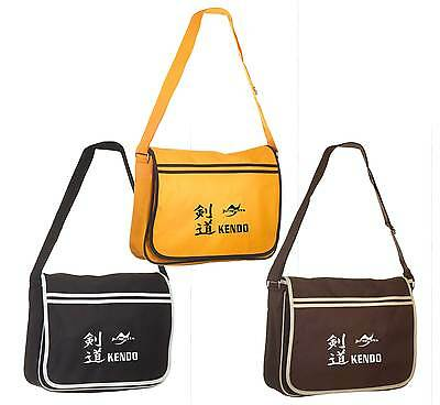 Ju-Sports- Messenger Bag Retro Kendo aus Polyester. ca. 12 Liter. Budo. golden