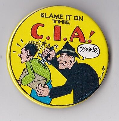 """""""blame It On The C.i.a.!"""" 1983 Kitchen Sink Press Dick Tracy Chester Gould"""