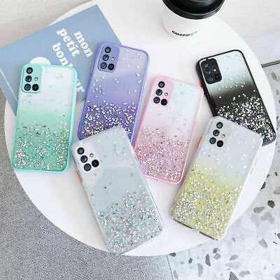 Glitter Silicone Case For Samsung Galaxy S9 S8 Plus Note 9 A8 A7 2018 Back Cover