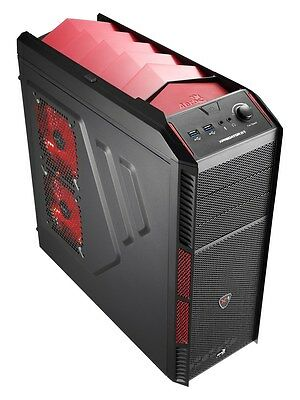 Aero Cool X-Predator X1 Devil Red Black Midi Tower Gaming Case - USB 3.0