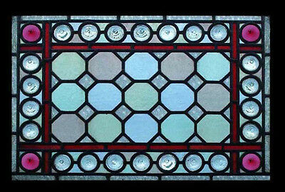 Amazing Victorian Rondels Beauty Antique English Victorian Stained Glass Window • CAD $3,793.28