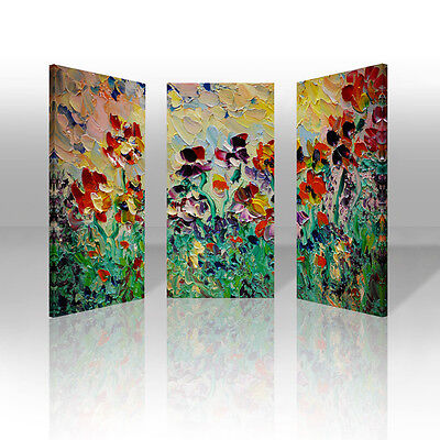 Watercolor Flowers Framed Canvas Print Abstract Wall Art Painting Picture Decor