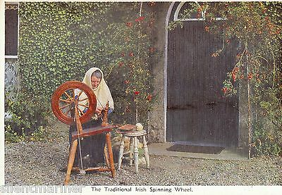 The Traditional Irish Spinning Wheel, colour postcard, unposted