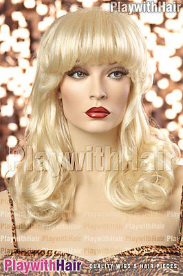 Retro Burlesque 50's Wig Lightest Blonde