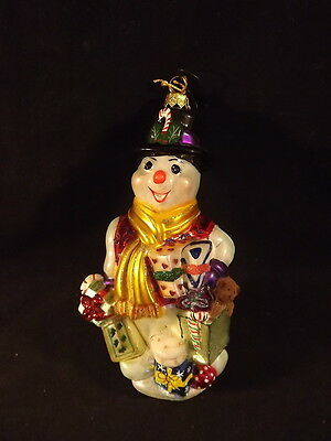 DELICATE,COLLECTIBLE BLOWN GLASS CHRISTMAS ORNAMENT: SHOPPING SPREE by Polonaise