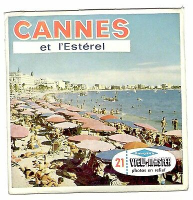 FOREIGN vintage SAWYERS View Master CANNES l'ESTEREL reel set FRANCE belgium old